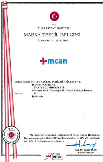 MCAN Health's Trademark