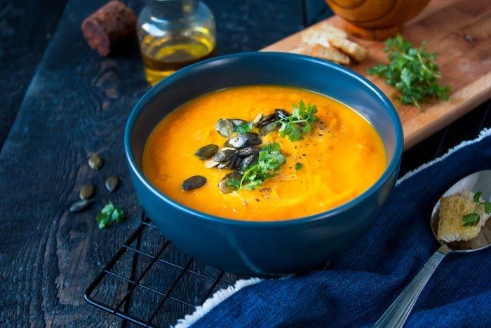 Sopa de calabaza: receta post cirugía bariátrica