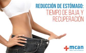 reducción de estómago tiempo de baja